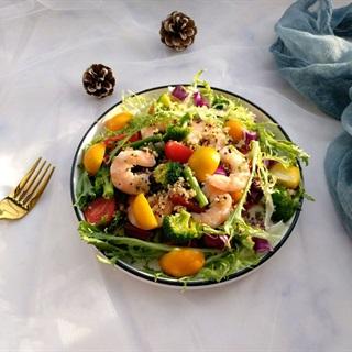 Cách làm Salad Tôm Trộn Rau Quả giảm cân, đơn giản tại nhà