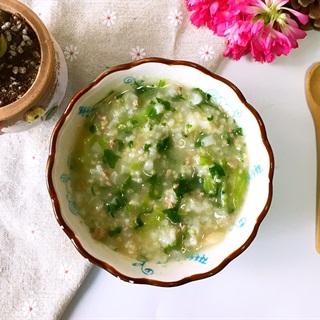 Cách nấu Cháo Gan Heo Cải Bó Xôi dinh dưỡng cho trẻ