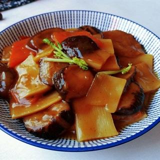 Cách nấu Măng Xào Nấm Hương cà rốt, cho ngày ăn chay