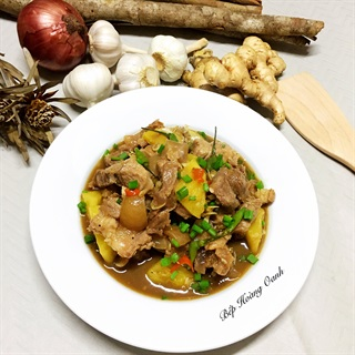 Cách làm Thịt Bê Rim Mắm Với Thơm (Dứa) thơm ngon tuyệt vời