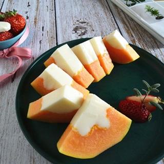 Cách làm Thạch Sữa Đu Đủ đơn giản, giải nhiệt mùa hè