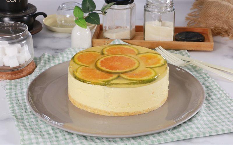 Cách làm Bánh Mousse Xoài Gương Cam không cần lò nướng