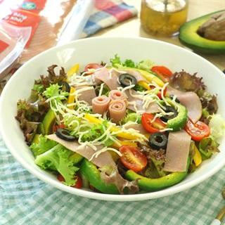Cách làm Salad Dăm Bông cùng rau củ thanh mát cho cả nhà