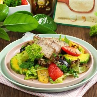 Cách làm Salad Mùa Hè Sốt Táo Xanh cho nàng ăn kiêng