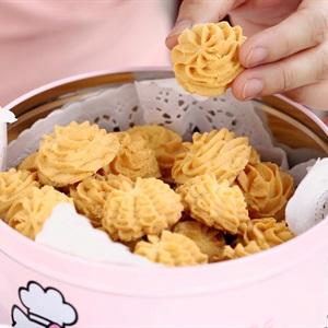 Bánh quy bơ hình hoa đẹp mắt