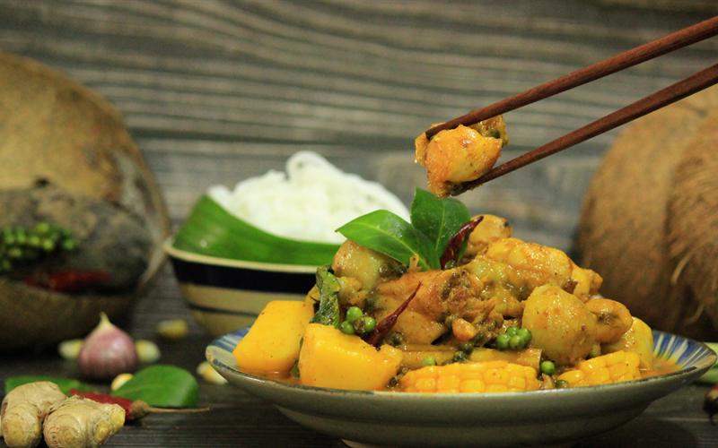 Cách làm Cà Ri Ếch Nấu Tiêu ngon lành từ xứ sở chùa vàng