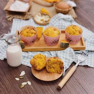 Cách làm Bánh Muffin Bí Ngô Hoa Quả Nhiệt Đới thơm ngon