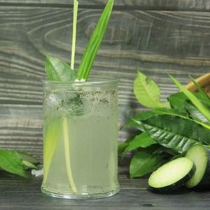 Trà xanh bí đao nước dừa đường phèn