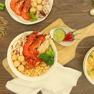 Cách Nấu Mì Cay Kim Chi Hải Sản Ngon Ngất Ngây
