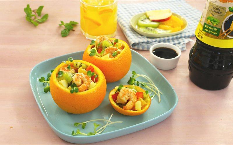 Salad tôm cam thơm mát tự nhiên và 4 món giải nhiệt ngày hè
