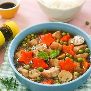 Cách Làm Thịt Heo Om Nấm Đậu Hà Lan Món Ngon Cho Bé