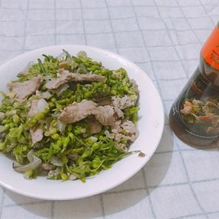 Cách Làm Hoa Thiên Lý Xào Thịt Bò Cực Đơn Giản