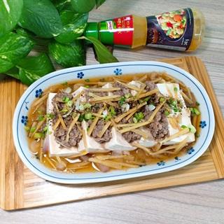 Cách Làm Đậu Hủ Non Hấp Thịt Bò Băm Cực Ngon Cơm