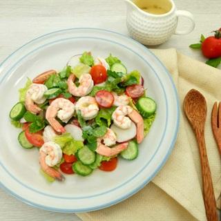 Cách Làm Salad Tôm Rau Củ Sốt Chanh Dây Ăn Kiêng