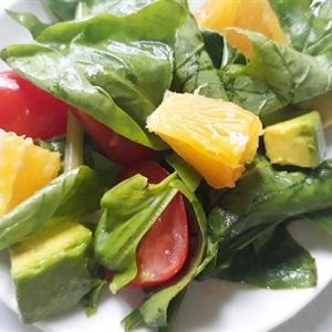 Salad rau bina trái cây