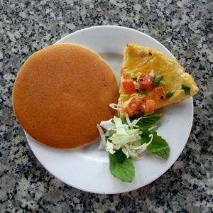 Pancake trứng chiên