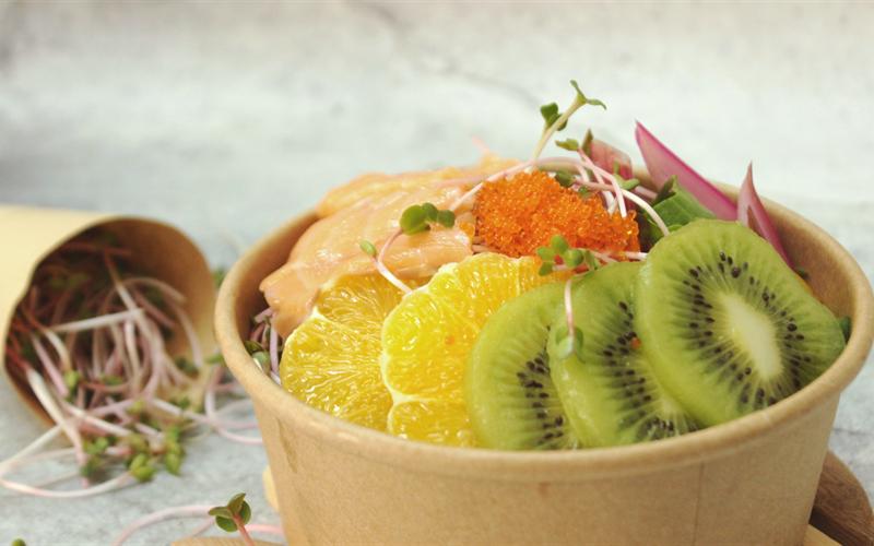 Cách Làm Salad Trái Cây Cải Cầu Vồng Sốt Trứng Cá Chuồn