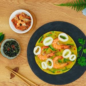 Bánh xèo hải sản kiểu Hàn Quốc