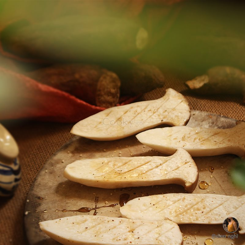 Nấm sò vua áp chảo chay