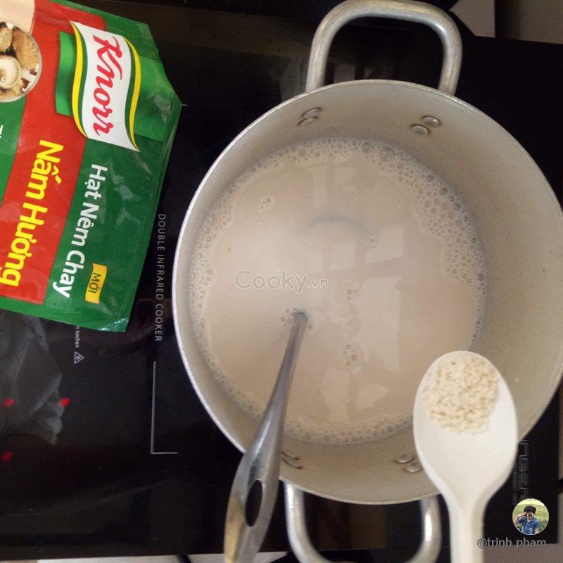 Súp sữa rau củ