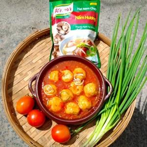 Xíu mại sốt cà chua chay