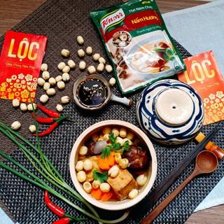 Canh đậu hũ nấm hạt sen