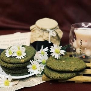 Bánh cookie trà xanh chocolate chip trắng