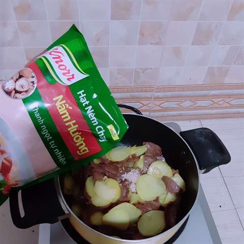 Bò chay xào khoai tây