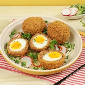 Trứng Bọc Thịt Chiên Xù