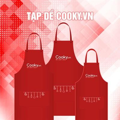 Tạp dề lưu niệm Cooky.vn