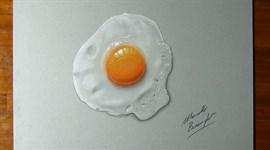 Vẽ trứng ốp la 3D y như thật