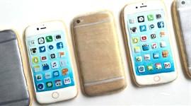Lạ mắt trang trí bánh cookies hình iPhone