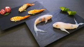 Làm sushi cá chép Koi giống y như thật