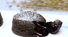 Tan chảy với bánh lava chocolate