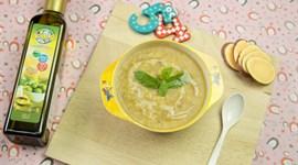 Cách nấu cháo gan gà khoai lang