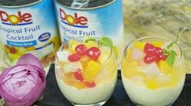 Cách làm Panna Cotta trái cây nhiệt đới