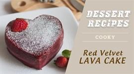 Cách làm Red velvet lava cake