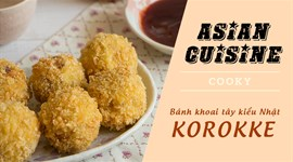 Cách làm Korokke thịt bò - Bánh khoai tây kiểu Nhật Bản
