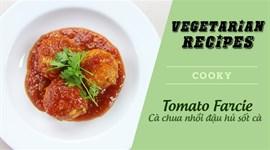 Cách làm Cà chua nhồi đậu hũ sốt cà