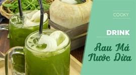 Cách làm Rau má nước dừa