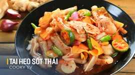 Cách làm Tai heo ngâm kiểu Thái