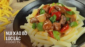 Cách nấu Nui xào bò lúc lắc