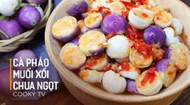 Cách làm Cà pháo muối xổi chua ngọt