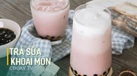 Cách làm Trà sữa khoai môn