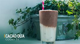 Cách làm Sinh tố dừa cacao