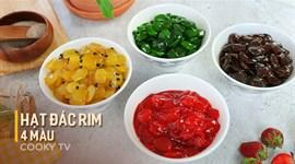 Cách làm Hạt đác rim 4 màu