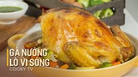 Cách làm gà nướng rau củ bằng lò vi sóng