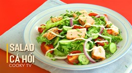 Salad cá hồi sốt dầu giấm mayo