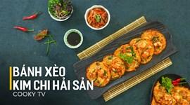 Bánh xèo kim chi hải sản Hàn Quốc