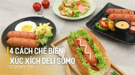 4 cách chế biến xúc xích Deli Sumo